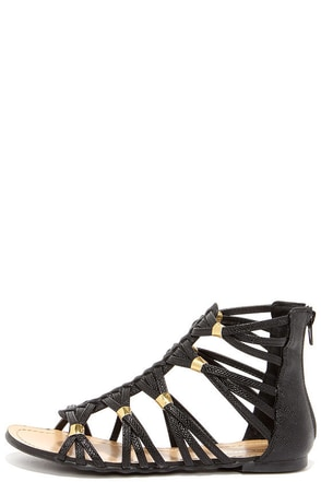 Coliseum Tan Gladiator Sandals at Lulus.com!