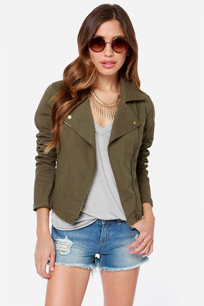 RVCA Agnes Army Green Jacket