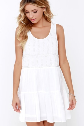To the Bead of My Heart Beaded Ivory Dress at Lulus.com!