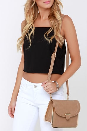 Just a Trim Light Brown Purse at Lulus.com!