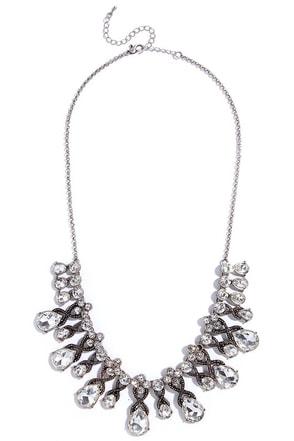 Breath of Fresh Era Silver Rhinestone Necklace at Lulus.com!