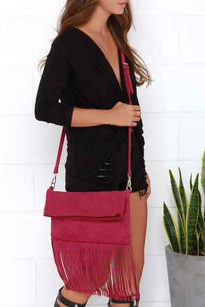 Gallop and Canter Red Suede Leather Purse at Lulus.com!