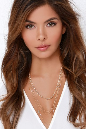 Sea Gems Gold and Pearl Layered Necklace at Lulus.com!