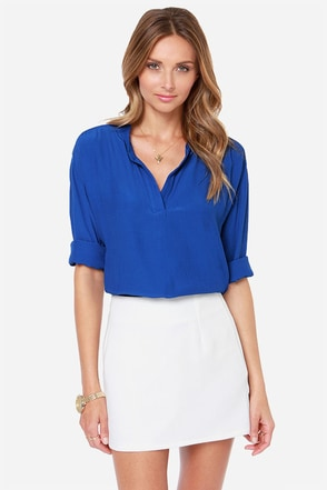 Lucy Love Pickadilly Cobalt Blue Top