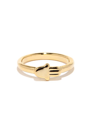 My Mantra Gold Knuckle Ring at Lulus.com!