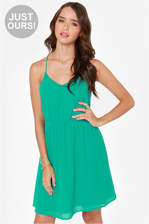 LULUS Exclusive Knot For Love Sea Green Dress