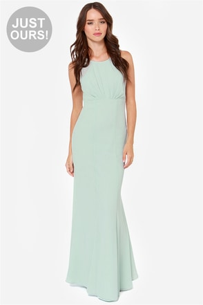 LULUS Exclusive Let's Dance Mint Maxi Dress