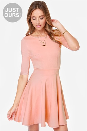 LULUS Exclusive Just a Twirl Blush Pink Dress