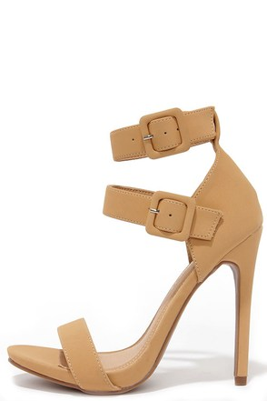 Pair Play Camel Ankle Strap Heels at Lulus.com!