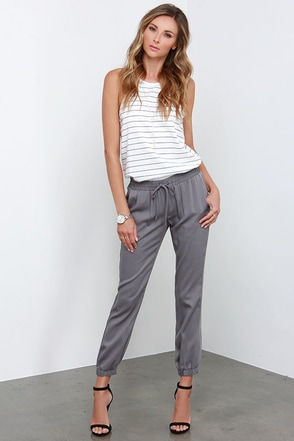 O'Neill Cassandra Grey Jogger Pants at Lulus.com!