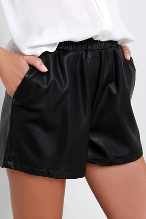 Glamorous Howlin' Ivory Vegan Leather Shorts at Lulus.com!
