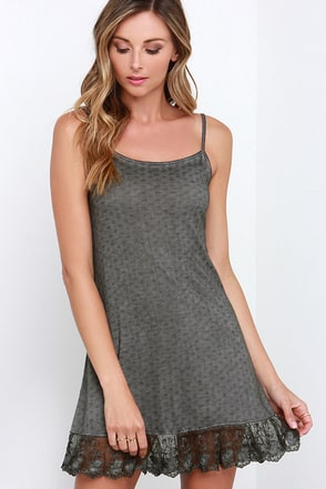 Cuddle Bunny Washed Grey Dress at Lulus.com!