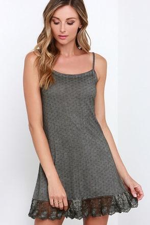 Cuddle Bunny Washed Grey Dress at Lulus.com!