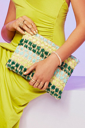 Time to Fiesta Beige and Teal Clutch at Lulus.com!