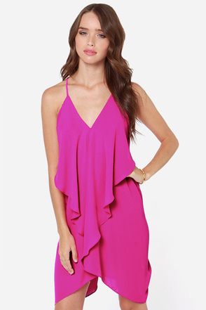 Tier for the Party Magenta Dress