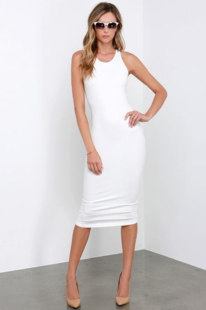 Glamorous Basic Requirement Ivory Bodycon Midi Dress at Lulus.com!