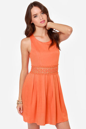 Evening Embers Orange Dress