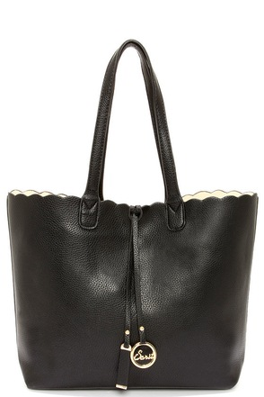 Two Truths Reversible Black Tote