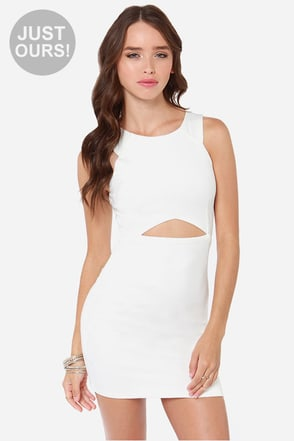 LULUS Exclusive Full Chic Ahead Ivory Dress