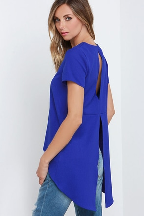 Glamorous Superpower Cobalt Blue High-Low Top at Lulus.com!
