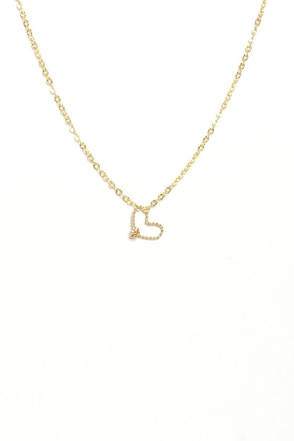 Heart School Confidential Handmade Gold Heart Necklace