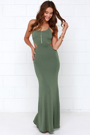 Forever and a Day Olive Green Maxi Dress at Lulus.com!