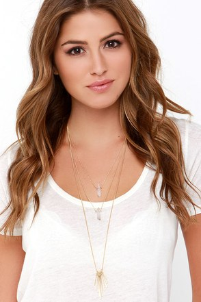 Fan Out and About Gold Layered Necklace at Lulus.com!
