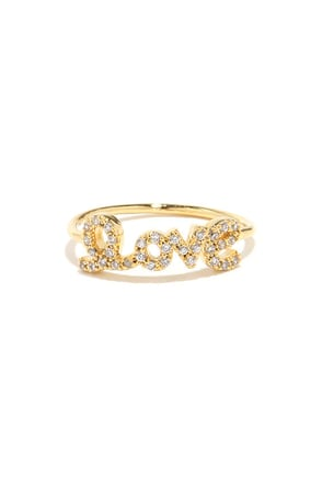 Love Ya Lots Gold Rhinestone Ring at Lulus.com!