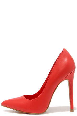 LULUS Gigi Red Pointed Pumps at Lulus.com!