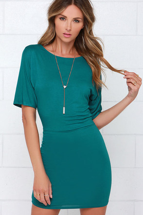 Hold Me Tight Teal Dress at Lulus.com!
