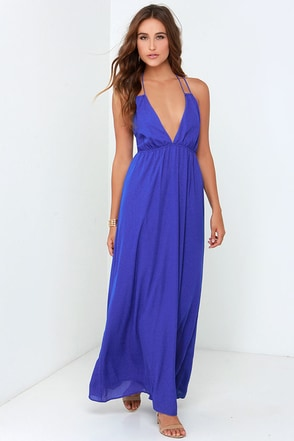 Gave Her Pause Royal Blue Maxi Dress at Lulus.com!