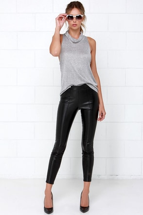 BB Dakota Alyssa Black Vegan Leather Pants at Lulus.com!