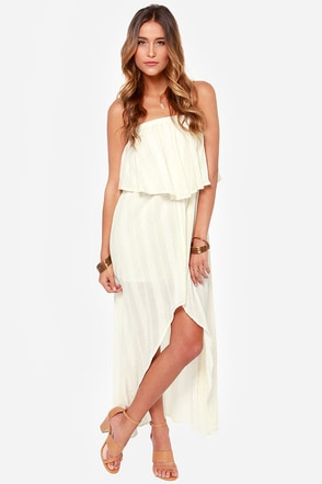 RVCA Luck Now Cream High-Low Dress