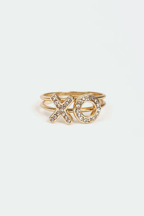 Let Love Grow Gold Ring Set