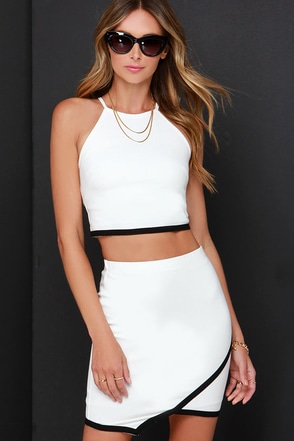 Special Someone Black and Ivory Two-Piece Dress at Lulus.com!