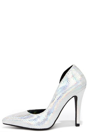 Party Animal Black Snakeskin D'Orsay Pumps at Lulus.com!