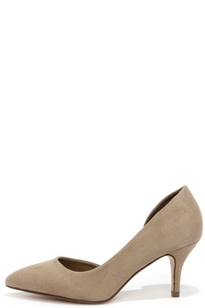 Quite an Impression Taupe Suede D'Orsay Pumps at Lulus.com!