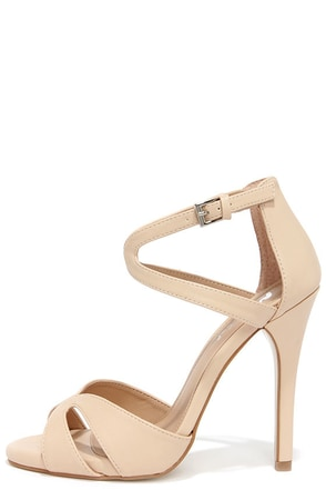 Some Kind of Vixen Nude Dress Sandals at Lulus.com!