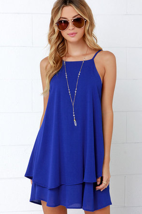 Dee Elle Whimsical Whim Royal Blue Dress at Lulus.com!