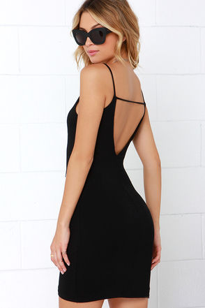 After Party Black Bodycon Mini Dress at Lulus.com!