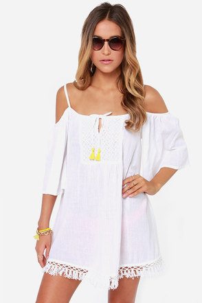 Roxy Beach Ray Ivory Dress