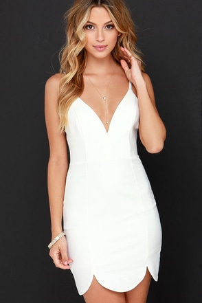 Let's Get it Started Ivory Bodycon Dress at Lulus.com!