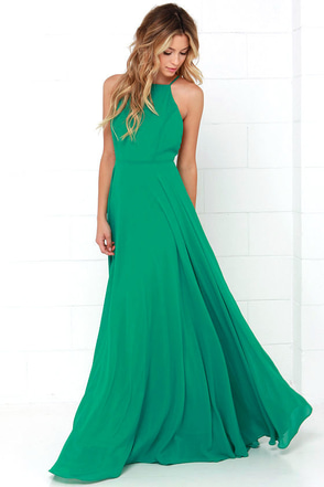 Mythical Kind of Love Green Maxi Dress 2