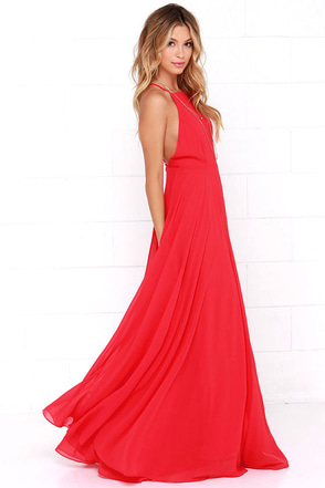 Großartig Mythical Kind Of Love Red Maxi Dress 1