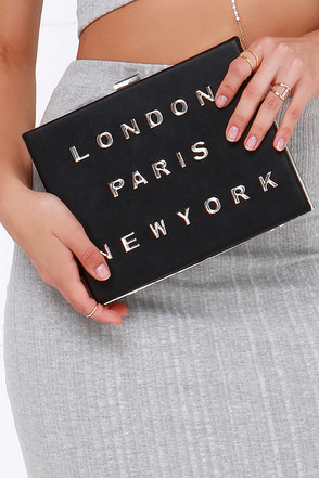 In Transit Black Clutch at Lulus.com!