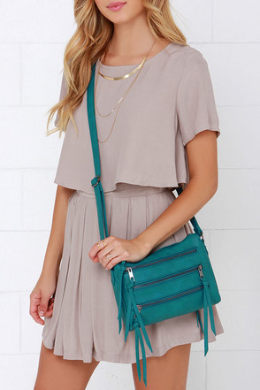 Zip Code Teal Purse at Lulus.com!