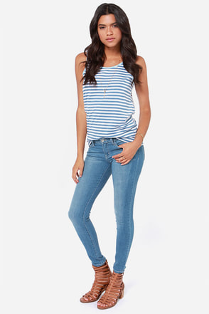 Flying Monkey Oh Darling Cropped Skinny Jeans