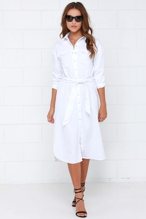 The Fifth Label Light the Way White Shirt Dress at Lulus.com!