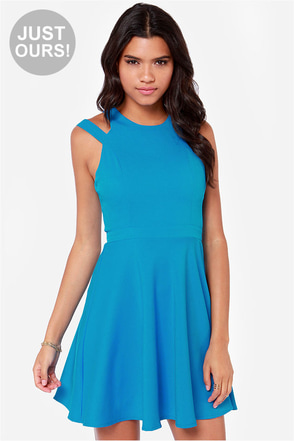 LULUS Exclusive Make It You Blue Dress