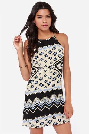 On to Yuma Cream Print Dress